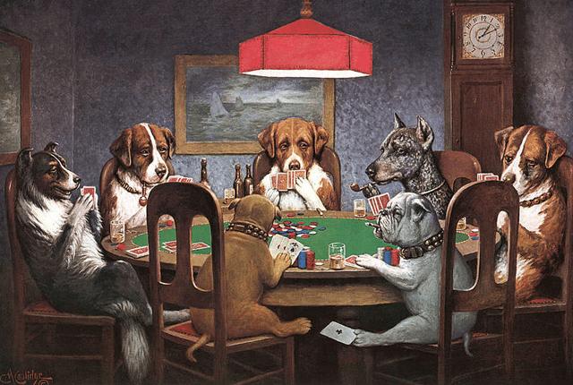 Que significa la pintura de perros jugando poker la