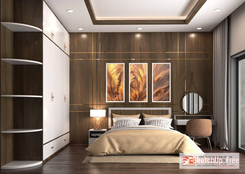 1721 Interior Bedroom Sketchup Model Free Download Bedroom