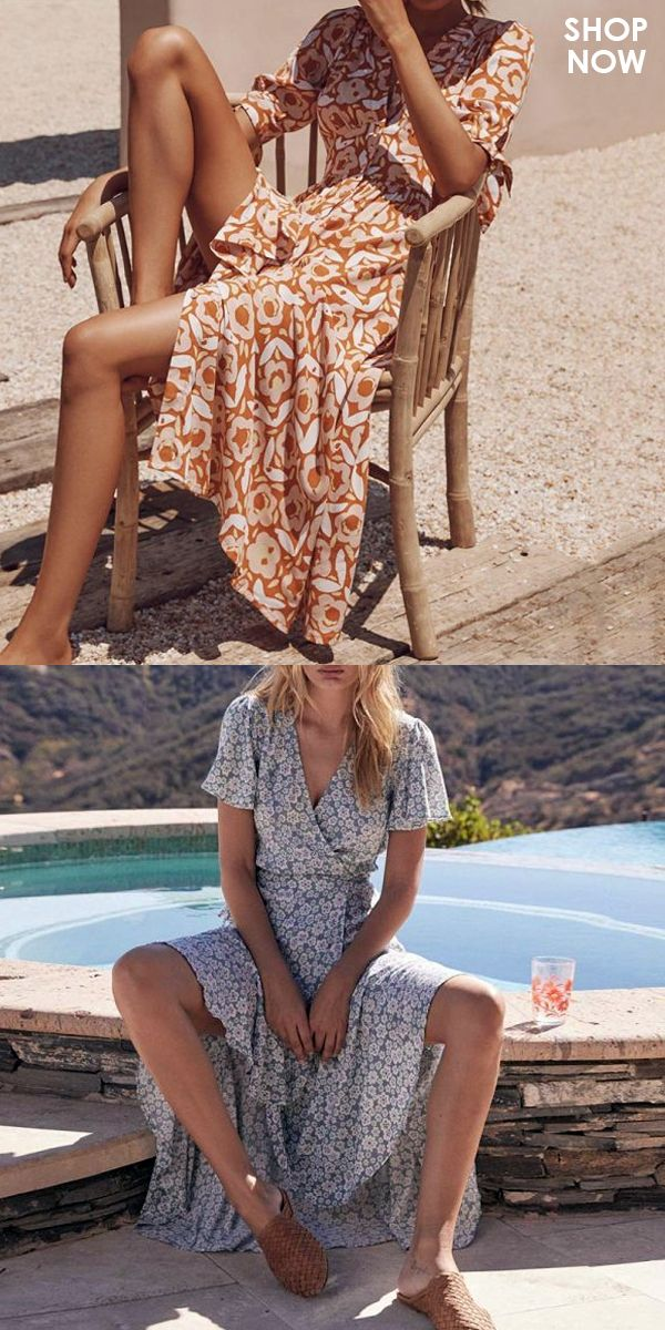 Printed V-Neck Short-Sleeved Lace Vacation Dress