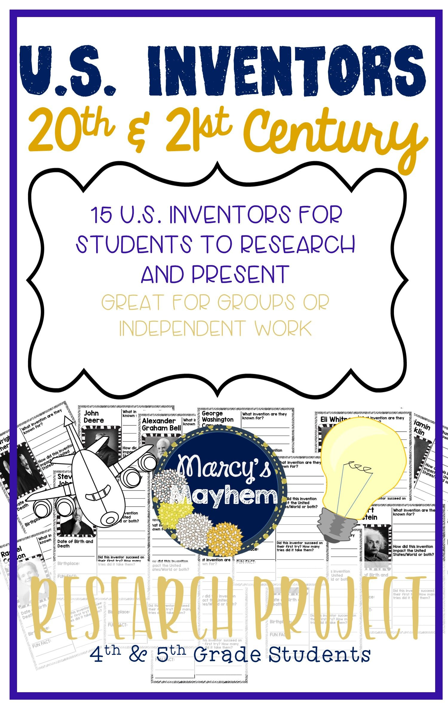Inventors Research Project For Famous Inventors Of The