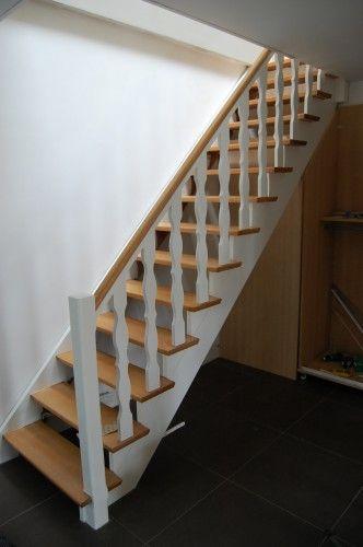 Renover escalier escalier hetre escalier hetre et blanc for Peindre un escalier en blanc ceruse