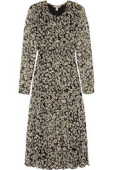 Burberry Brit Printed silk-georgette midi dress | NET-A-PORTER