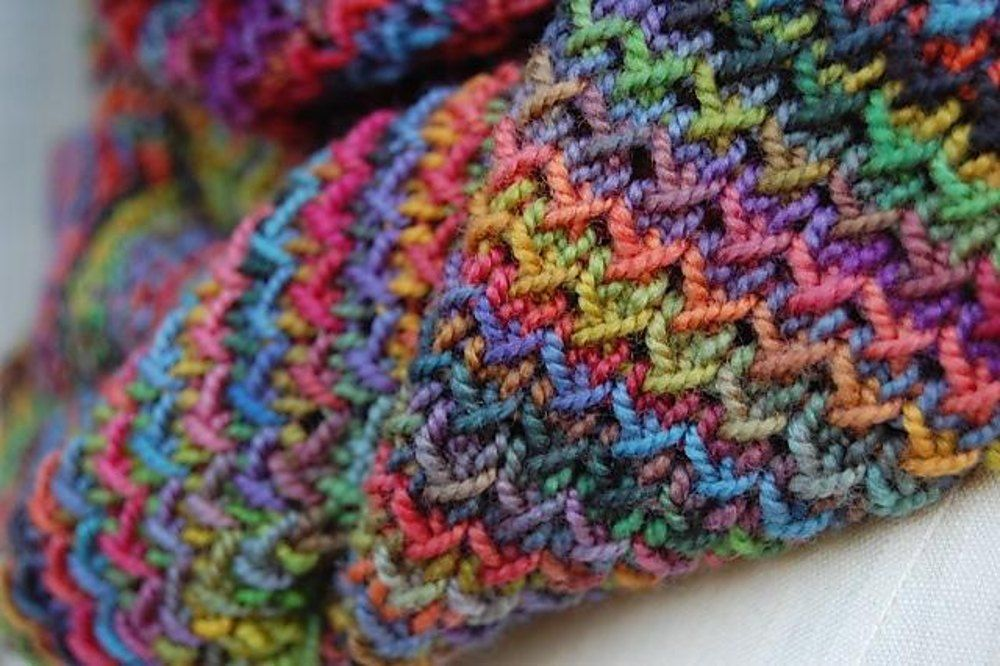 Photo of Painted Knitting pattern by Louise Zass-Bangham | Knitting Patterns | LoveKnitting