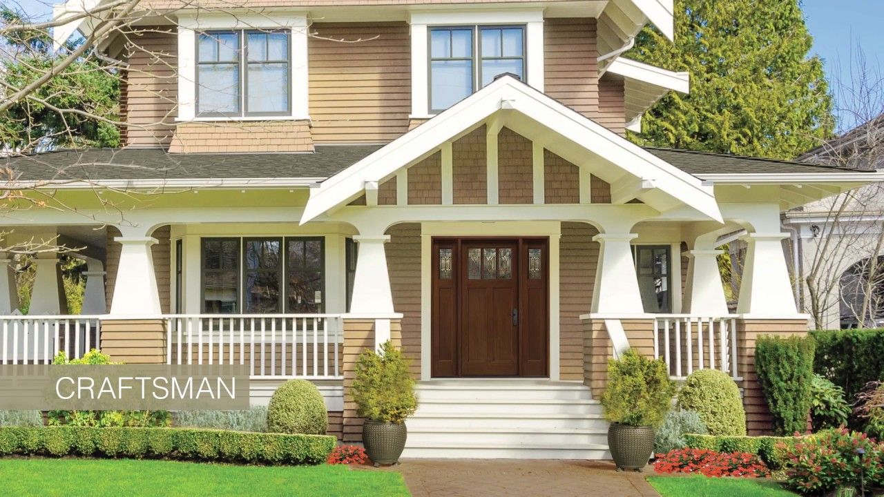 Therma-Tru Home Styles Guide – Craftsman: Therma-Tru offers doors with Craftsman  style for a lasting first impression.