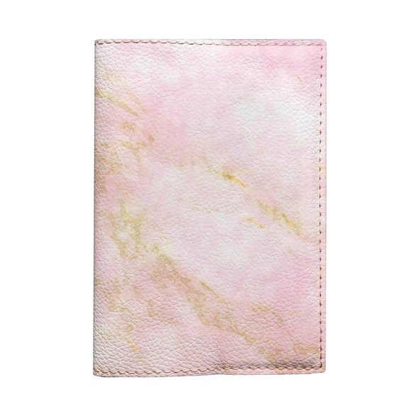 3f34ffe6ff31 Pink marble passport Holder eco leather travel cover for document ...
