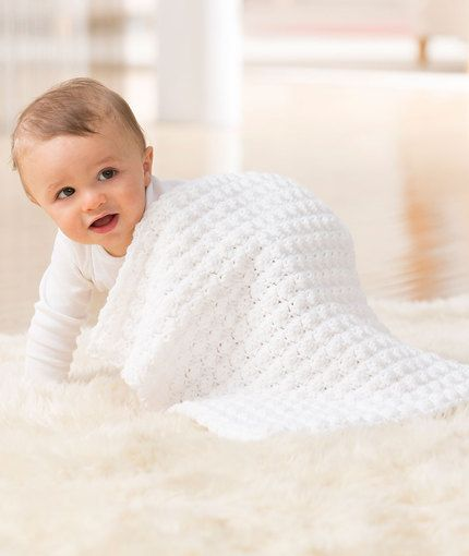 Nite-Nite Security Blankie - Crochet baby a blankie that is small enough to easily go wherever baby goes. Look for the blue heart on the ball band and know that it has been tested for harmful substances.