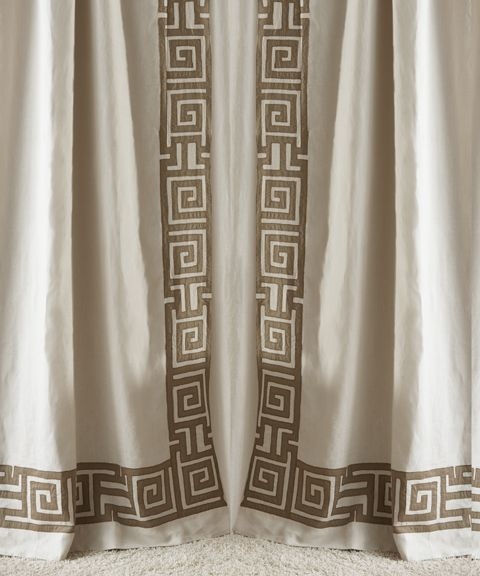 Drapery Panel With The Greek Key Design   Jill