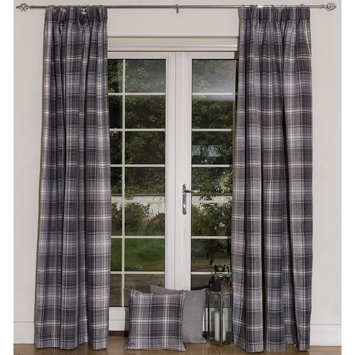 Photo of Union Rustic thermal curtain set Choate with curling tape, opaque | Wayfair.de