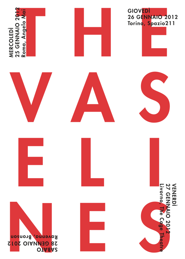 The Vaselines poster design /// source:  gdcdesign