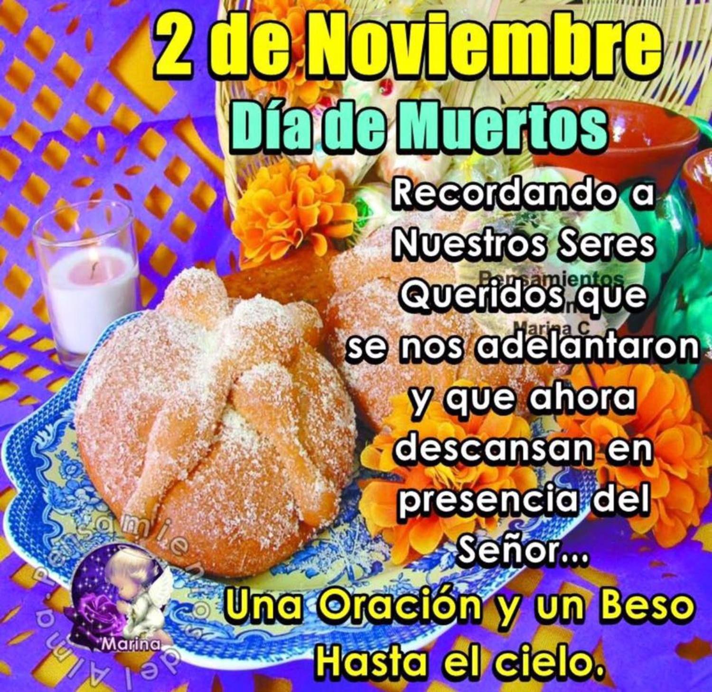 Feliz Día de los Muertos lindas imágenes | Fruit in season, How to make notes, Qoutes