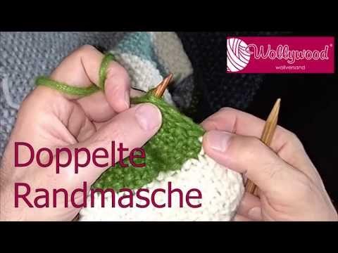 """Photo of Doppelkantenstich am Beispiel """"Ein Schal fürs Leben 2019"""" stricken."""