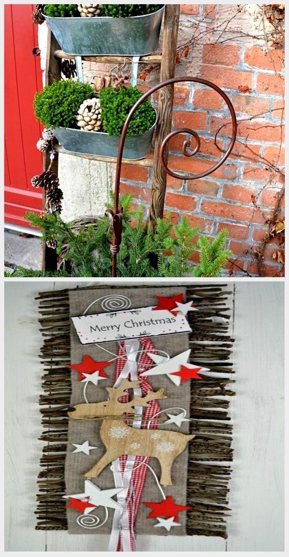 Weihnachtsdekoration des Hauseingangs verbreitet festliche Stimmung – 44 Outdoor-Dekorationsi…