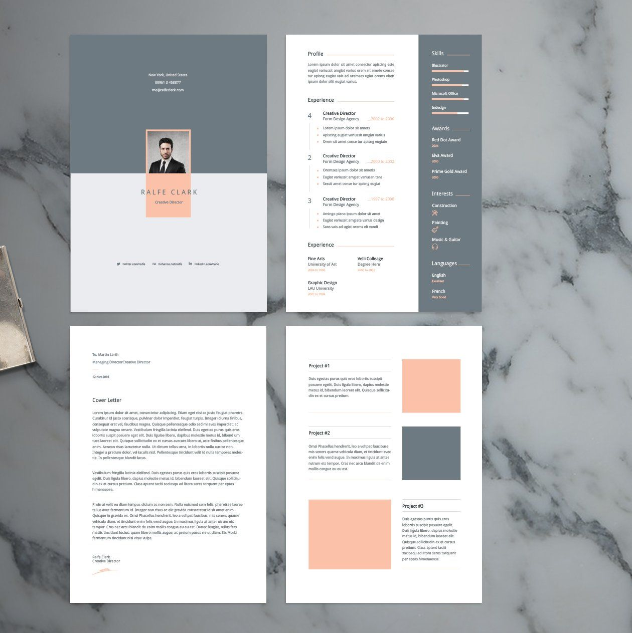 Resume And Cover Template  Design    Template And