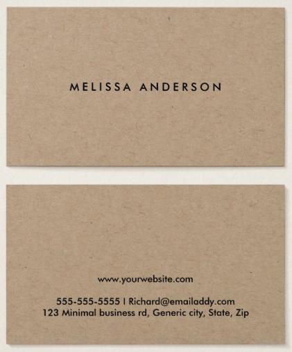 Modern Rustic Kraft Paper Business Cards Zazzle Com Rustic Crafts Rustic Home Design Modern Rustic
