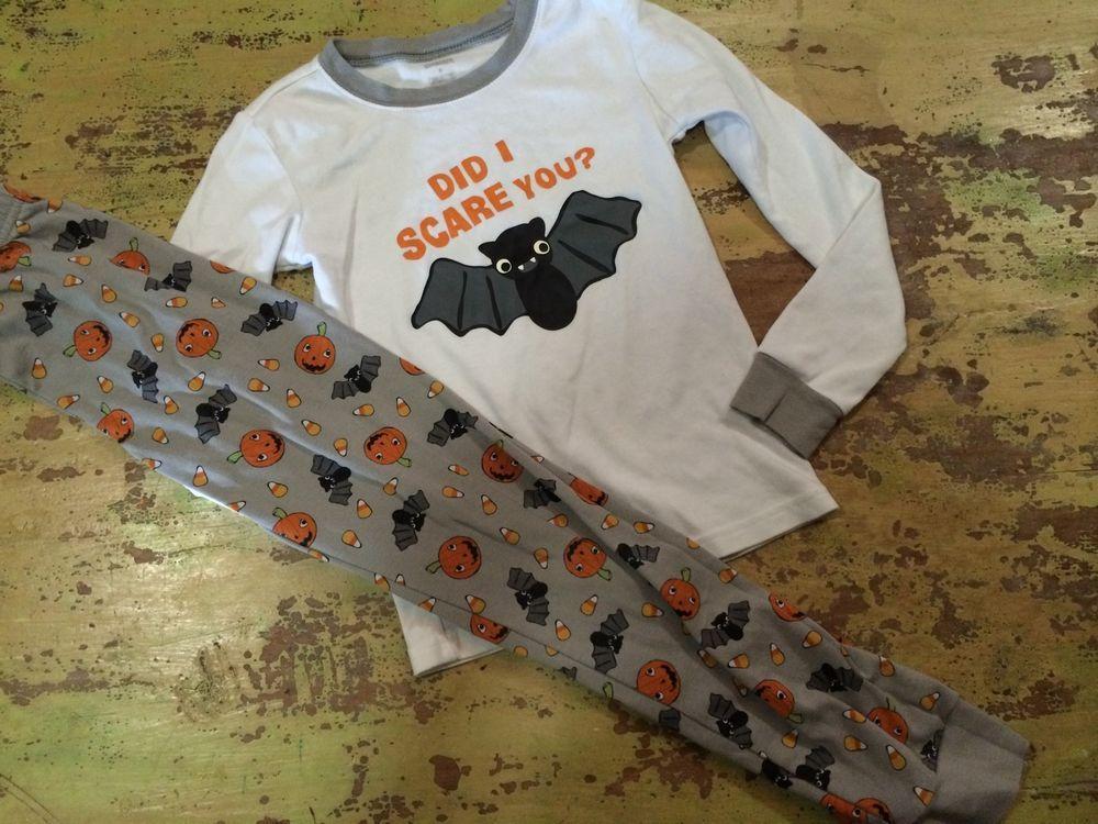 boys gymboree sz 8 halloween pajamas bats grey black ebay