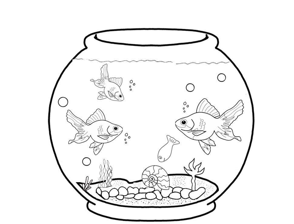 рисунок аквариум с рыбками и водорослями работу фирма взяла