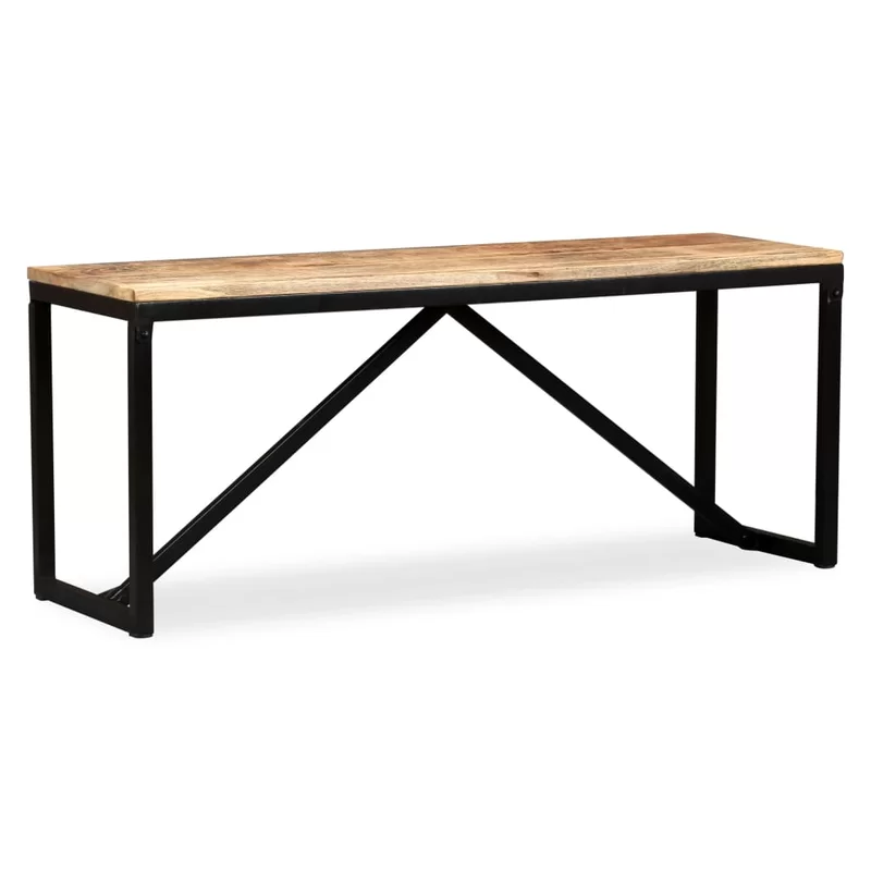 Gritton Wood Bench In 2020 Solid Mango Wood Wood Bench Garden Furniture Wood