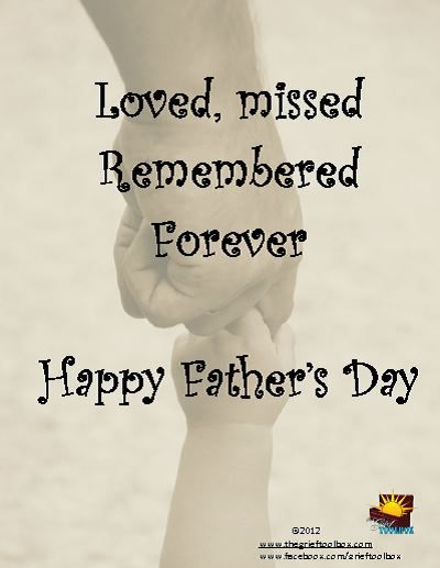 Happy Fathers Day The Grief Toolbox Grief Support Photoart