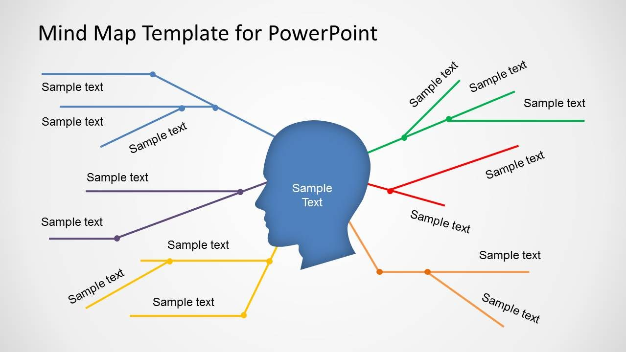 Simple Mind Map Template for PowerPoint - SlideModel | Mind map template, Simple mind map, Mind map