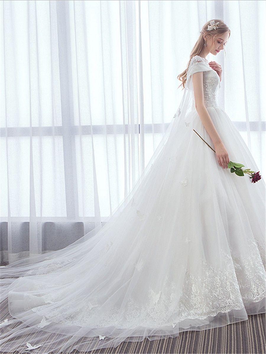 1490e1f65 Buy Women's Wedding Dress Solid Color Lace Rhinestones Bridal Maxi Long  Dress & Wedding Dresses - at Jolly Chic