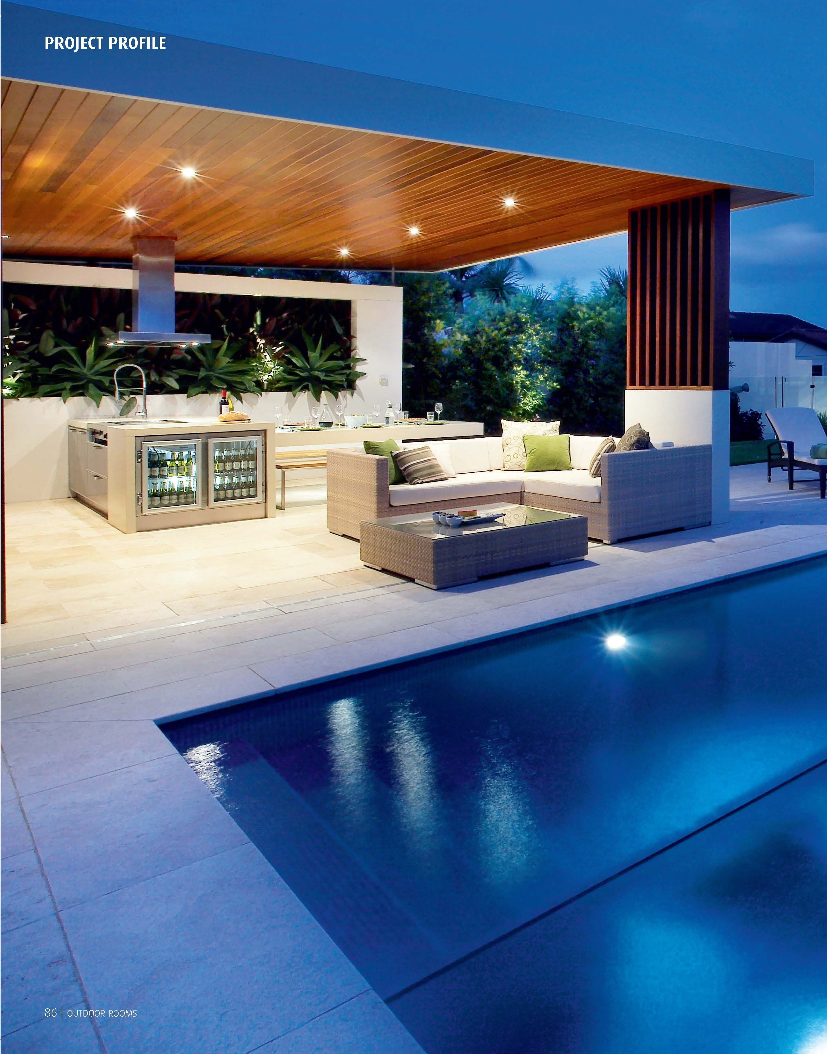 Outdoor living kitchen lounge area love future for Modern outdoor kitchen