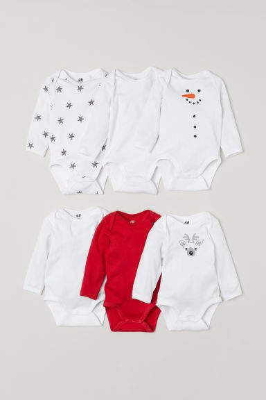 2e96ece6f 6-pack Long-sleeved Bodysuits