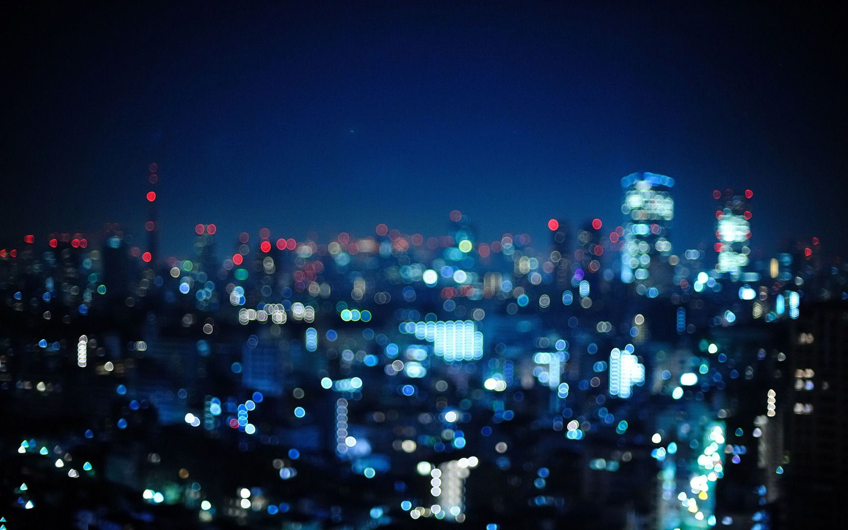 Blurry City Lights Wallpaper With Images City Lights Wallpaper