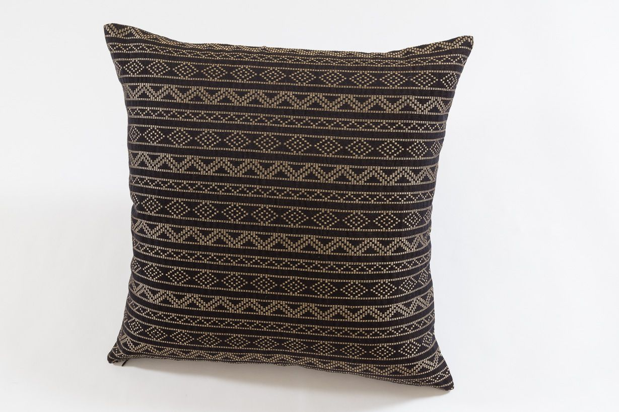 Samburu in chocolate brown handwoven decorative pillows