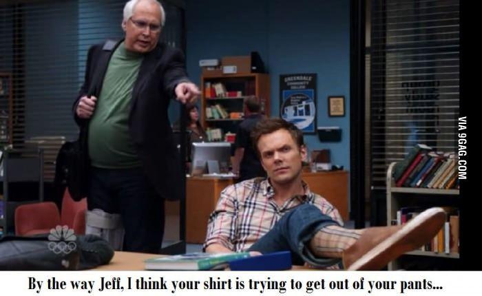 Jeff, check your shirt