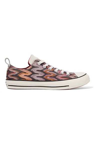 buy online ff3e2 b9ced CONVERSE + Missoni Chuck Taylor All Star Leather-Trimmed Metallic Crochet- Knit Sneakers.  converse  shoes  sneakers