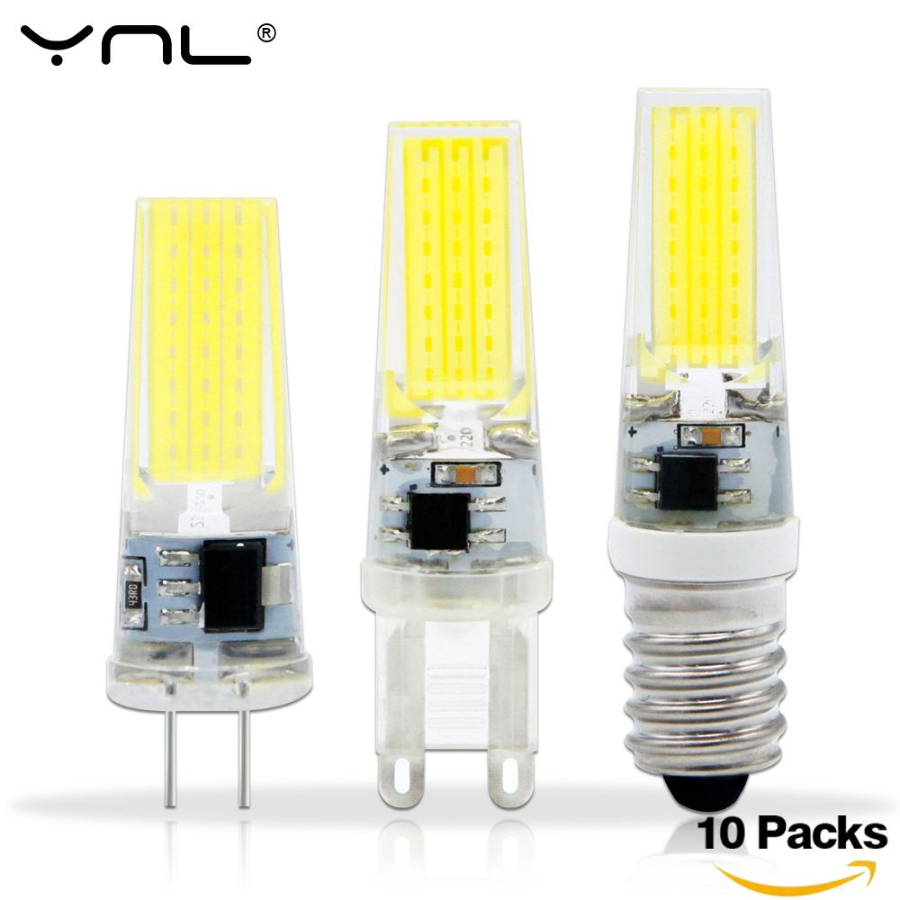 10pcs Lot Lampada Led G4 Lamp Ac Dc 12v 220v Cob E14 Led Bulb G9 Lighting Lights Replace Halogen Spotlight Crystal Chandelier Lighting Interior Led Lights Lamp