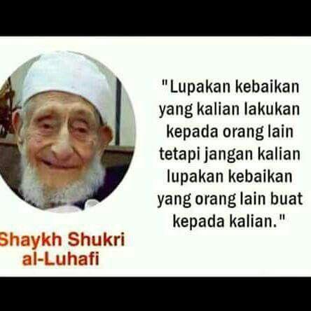 Shaykh Shukri Al Luhafi Kata Kata Indah Motivasi Kutipan