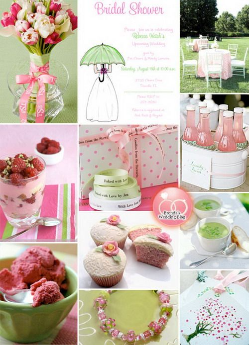 lime green and pink wedding ideas green bridal showers wedding