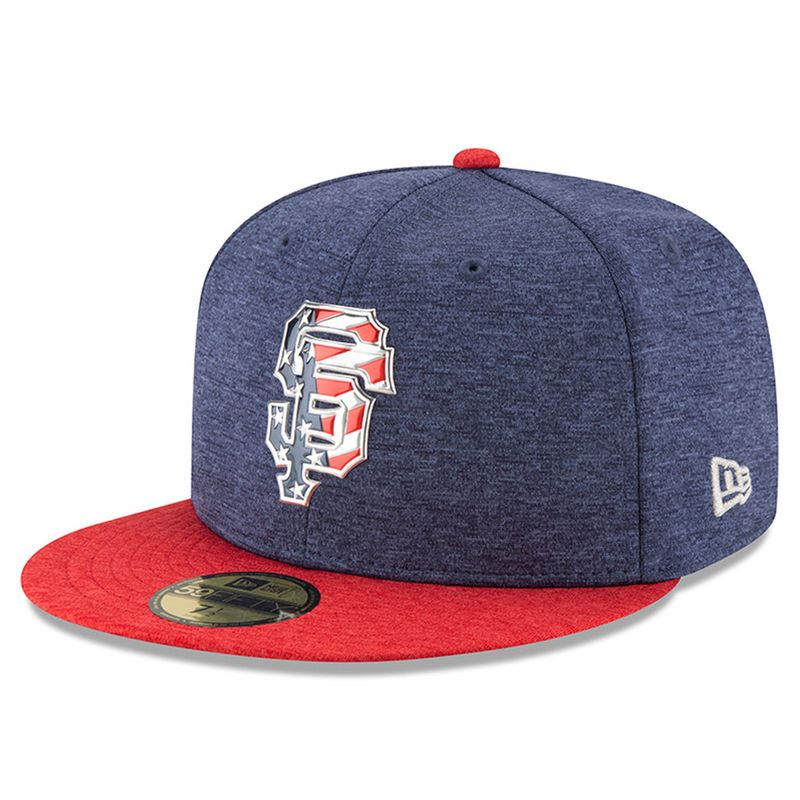 best quality in stock wholesale dealer San Francisco Giants New Era 2017 Stars & Stripes 59FIFTY Fitted ...