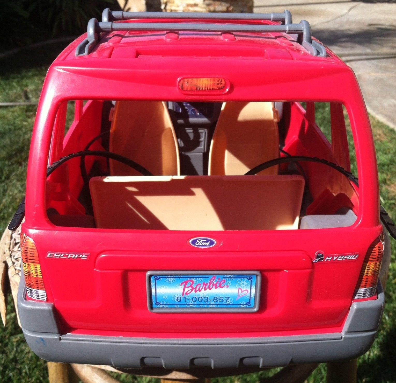 Barbie Ford Escape Red Suv Sport Car Truck Mattel 2002 Rare Ebay