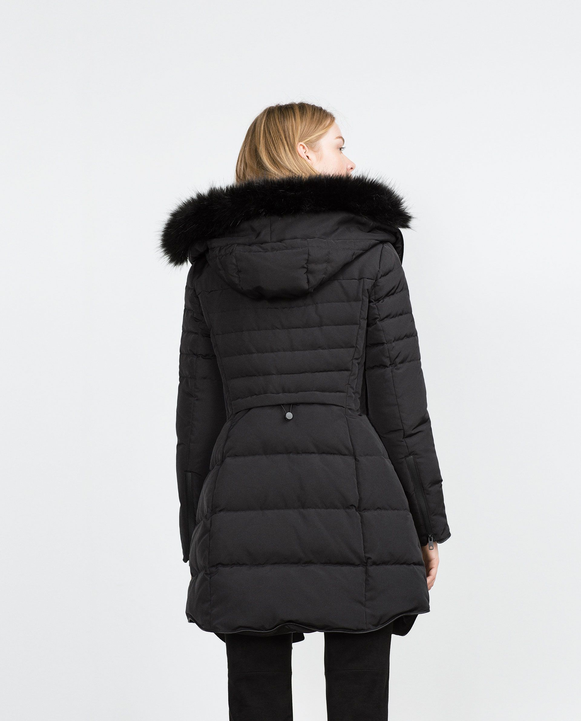 06758d0d LONG QUILTED COAT WITH DETACHABLE FAUX FUR - Quilted Coats - Outerwear -  WOMAN | ZARA Canada