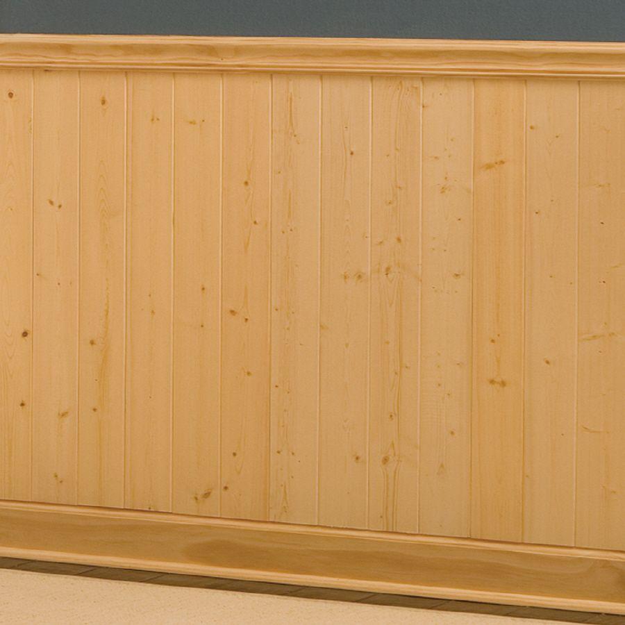 Evertrue Recessed Gold Pine Wainscot Wall Panel Lowes Com Wood Wainscoting Pine Walls Wainscoting