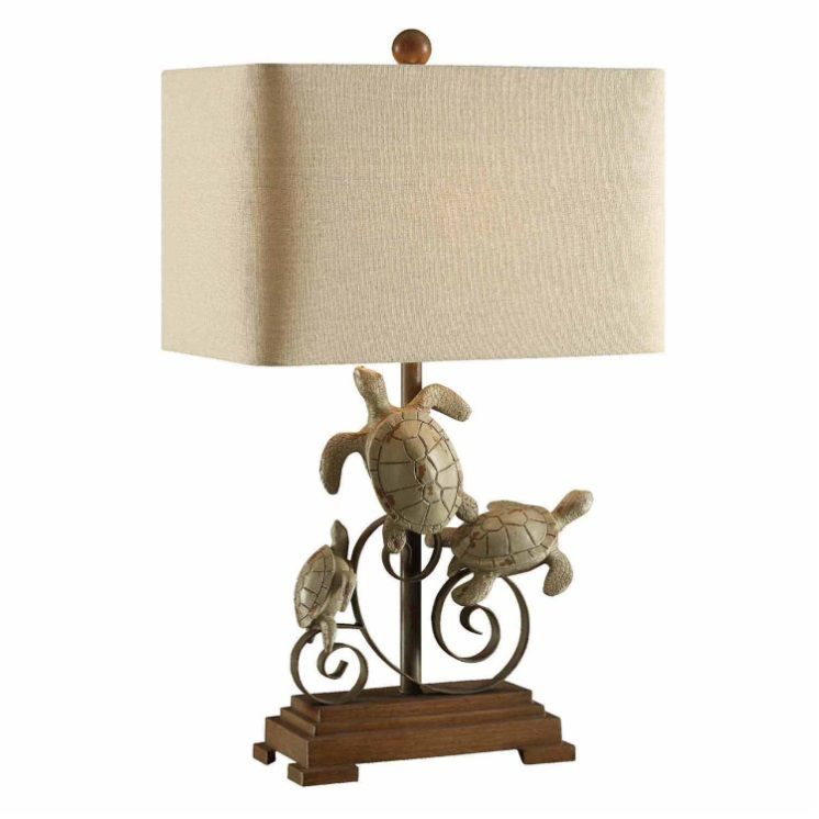 Turtle Table Lamp Rustic Table Lamps Table Lamp Turtle Table