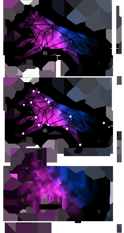 Geometric galaxy wolf tattoo design based off the actual ...