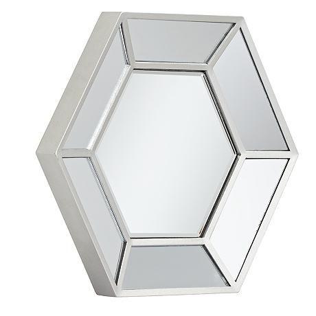 Wellford Silver 3 Piece Hexagonal Mirror Set Mirror Set Mirror Lamps Plus