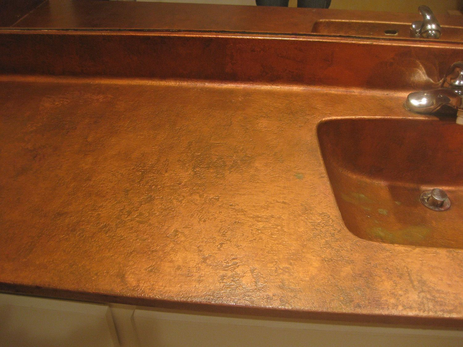 Hammered spray paint countertops google search great for Painted countertop ideas