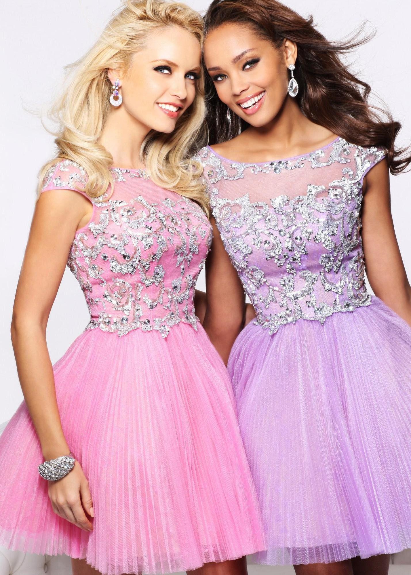 So cute for a fun short prom dress!!! Sherri Hill 21032 pink sequin ...