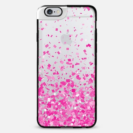 Pink Party Confetti Explosion Transparent iPhone 6 Plus Metaluxe Case by Organic Saturation | Casetify Get $10 off using code: 53ZPEA