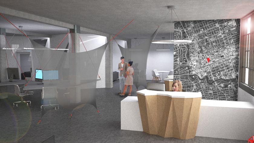 Modern IT Office Design Concept 01