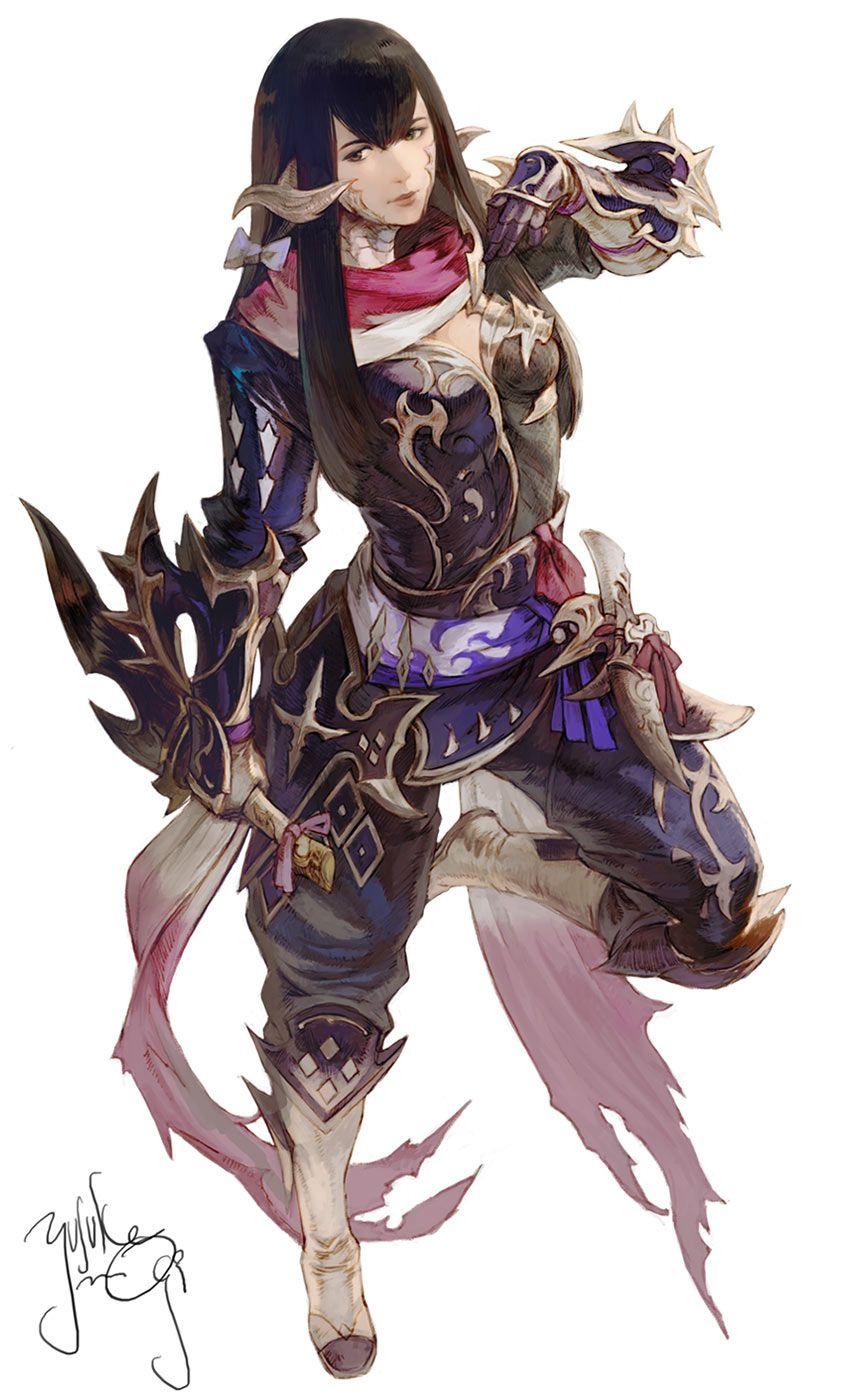 Yugiri from Final Fantasy XIV: Stormblood Blue, black, red