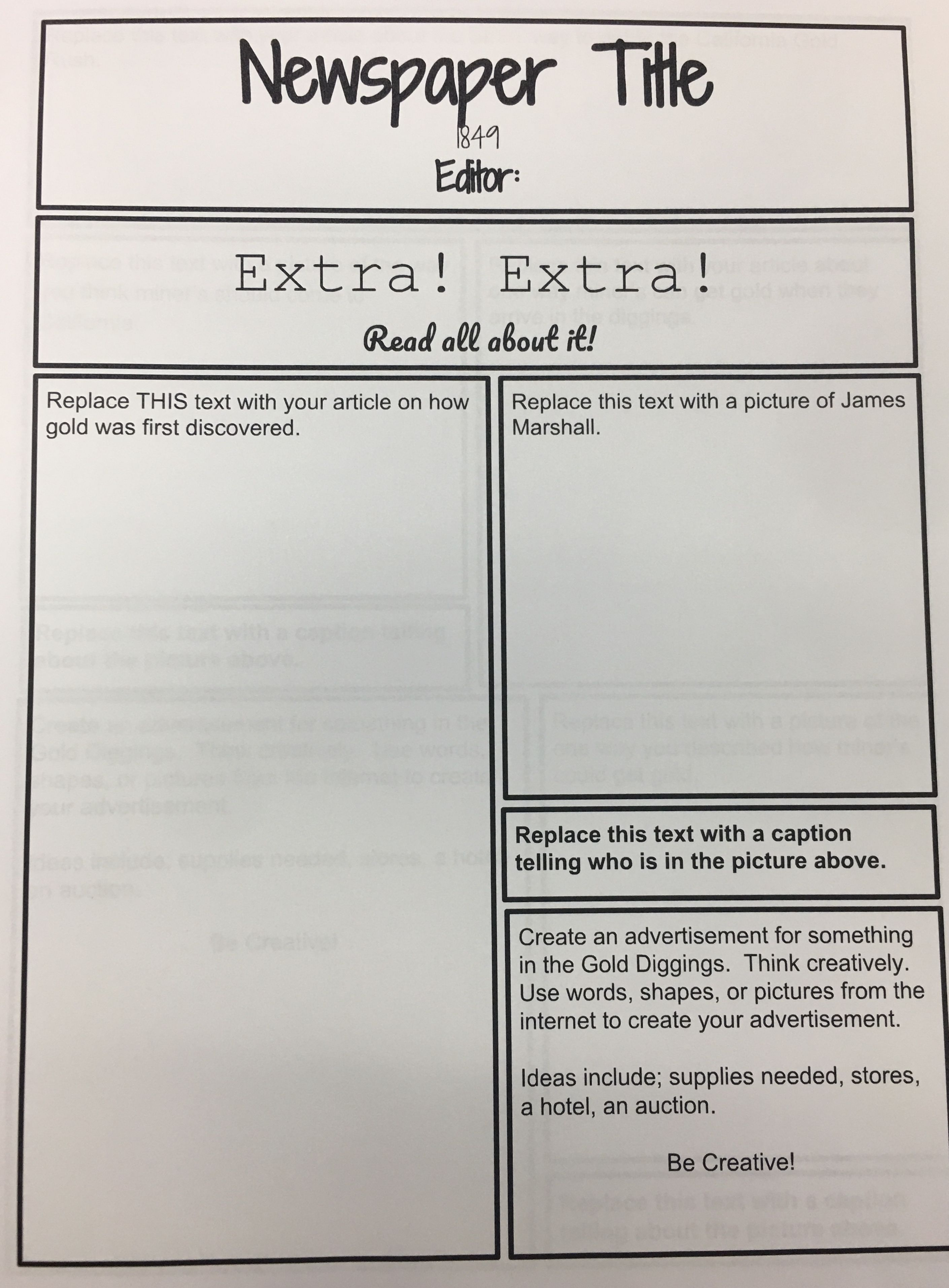 hight resolution of California Gold Rush Activity for the end of your unit!   California gold  rush