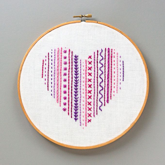 Diy heart embroidery sampler for beginners httpadventures in free embroidery patterns diy heart embroidery best embroidery projects and step by step diy tutorials for making home decor wall art dt1010fo