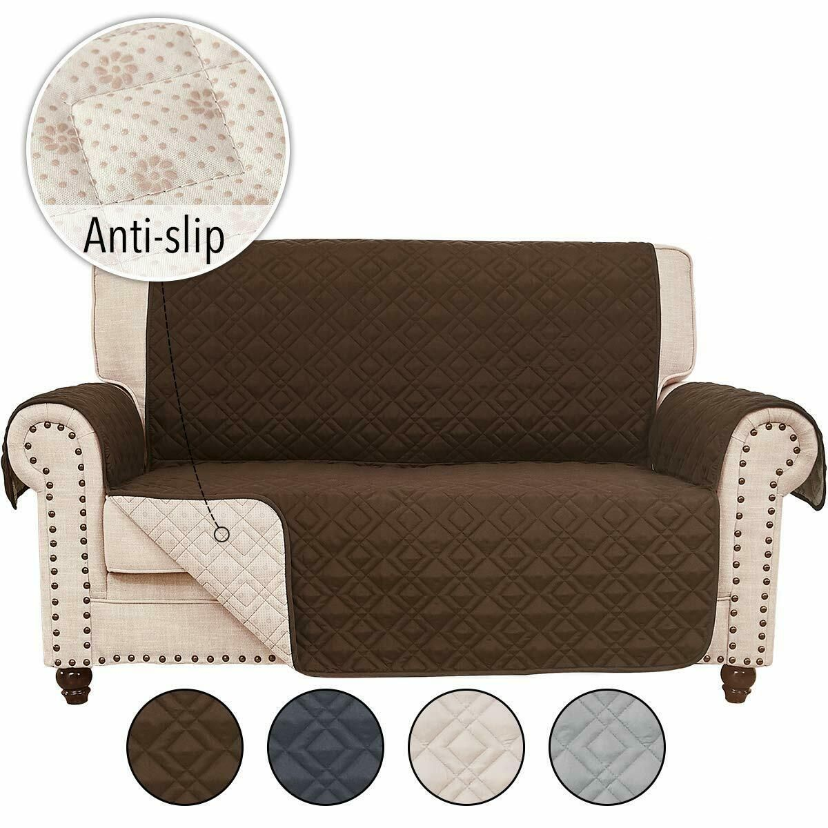Anti Slip Sofa Cover Chair Couch Slipcover Pet Dog Kids Mat Furniture Protector Sofa Slipcover Ideas In 2020 Leather Sofa And Loveseat Loveseat Covers Leather Sofa
