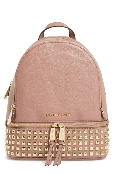 MICHAEL Michael Kors 'Small Rhea' Studded Backpack available at ...