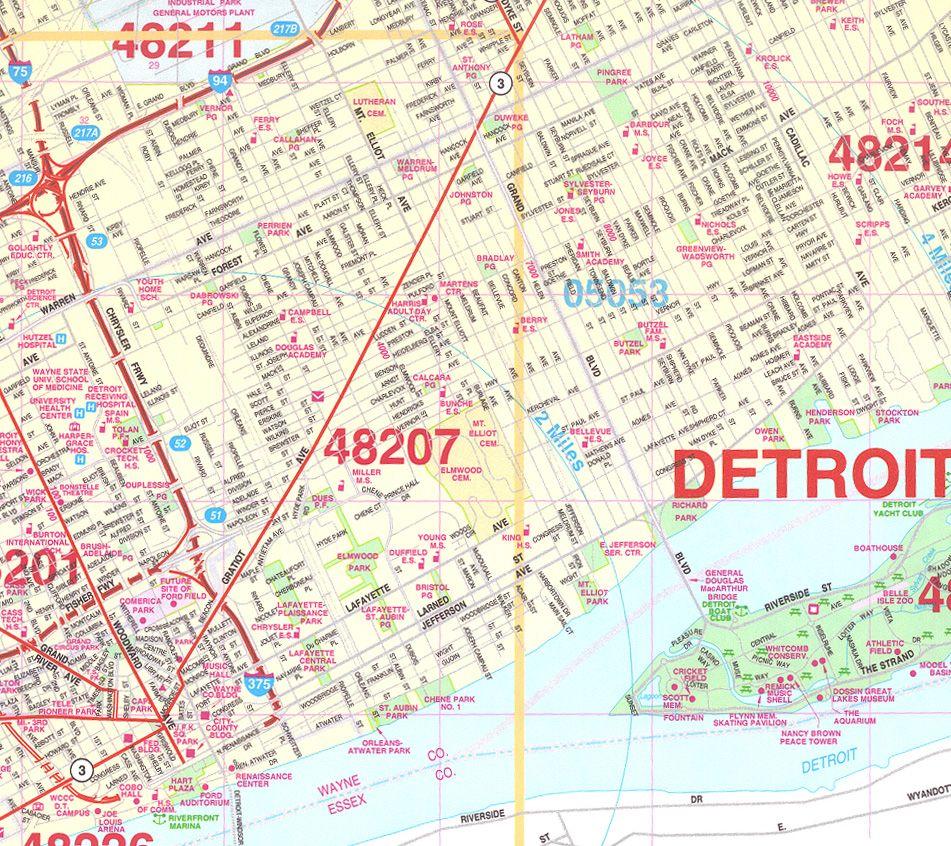 Detroit Wall Map mapSCAPE Pinterest Wall maps Detroit and Walls